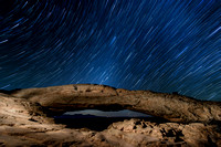 Star Trails over Mesa Arch - Canyonlands NP