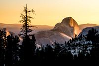 Fading Light on Half Dome - Olmstead Point
